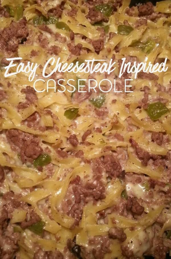 Easy Cheesesteak Inspired Casserole from Kori at Home