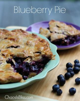 Blueberry Pie Recipe from Chaos is Bliss