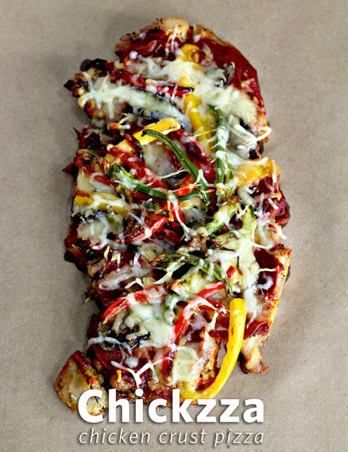 Chickzza - Chicken Crust Pizza from Wannabite
