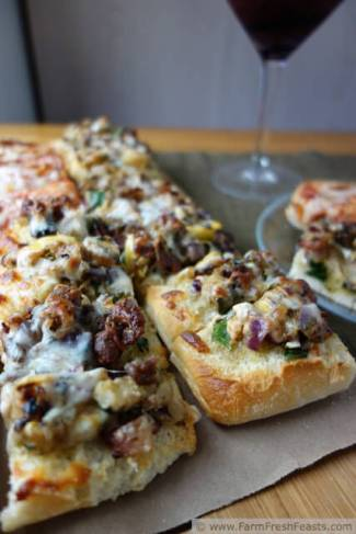 Grilled Veggie Ciabatta Pizza from Farm Fresh Feasts
