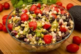 Mexican Corn Avocado Tomato Salad Recipe from Fancy Shanty