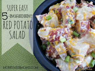 Super Easy 5-Ingredient Red Potato Salad from Moneywise Moms