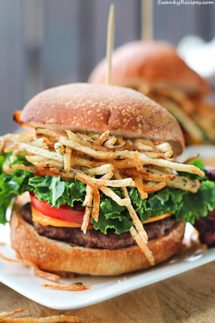Shoestring Fries Beef Sliders from Swanky Recipes