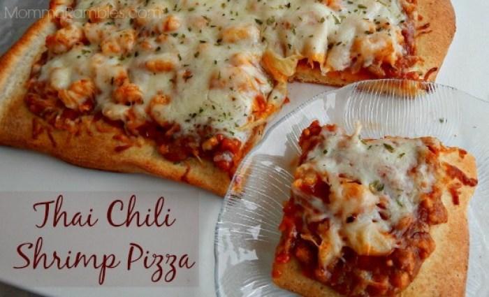 Thai Chili Shrimp Pizza from Maryland Momma's Rambles