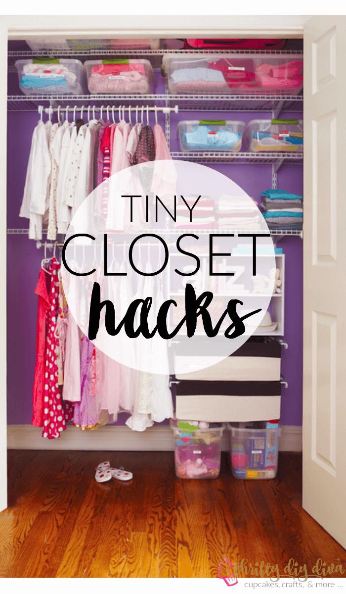 Brilliant Lifehacks to Organize Your Tiny Closet from Thrifty DIY Diva