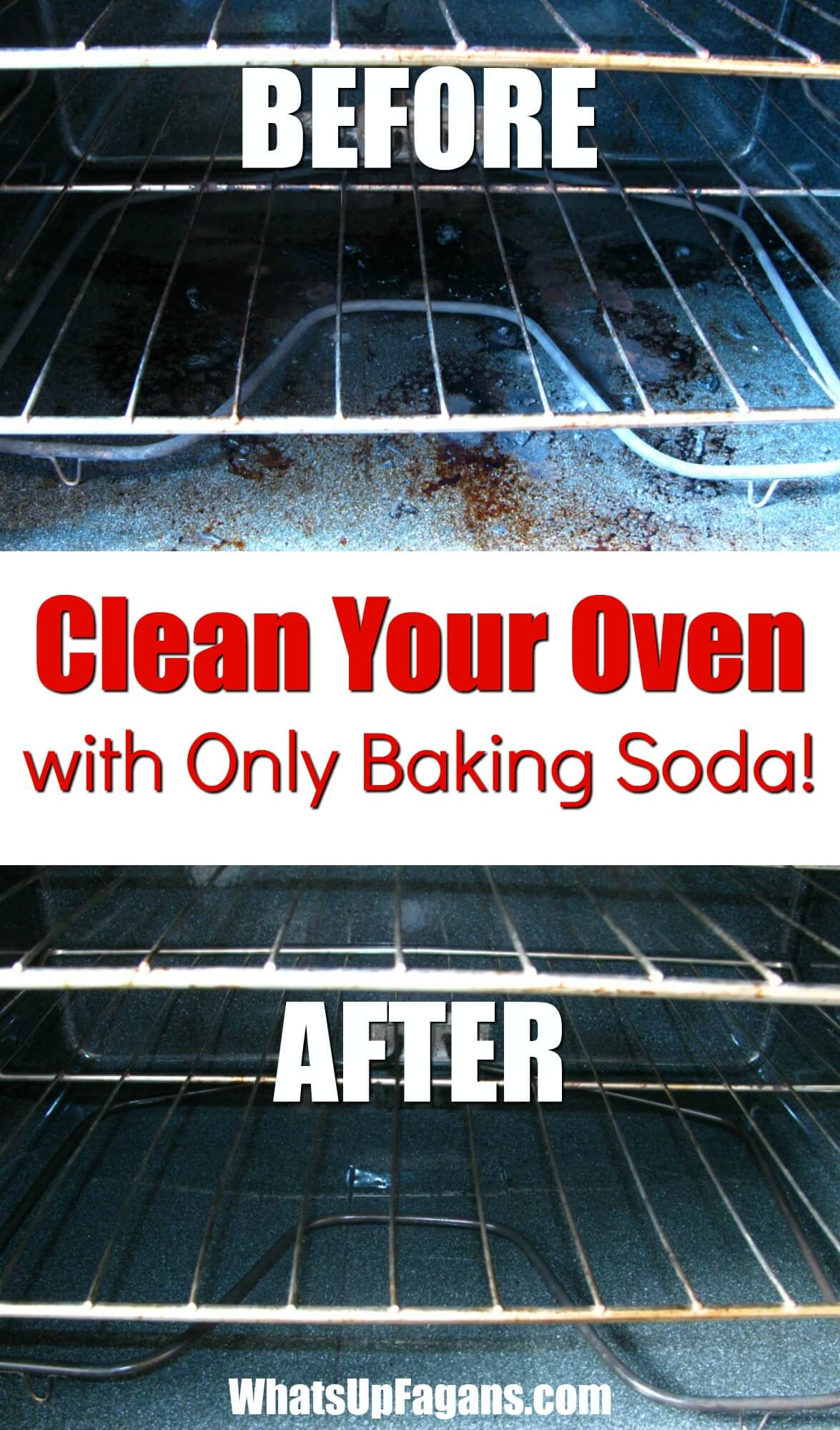 Tips and Tricks for Cleaning an Oven with Baking Soda from What's Up Fagans