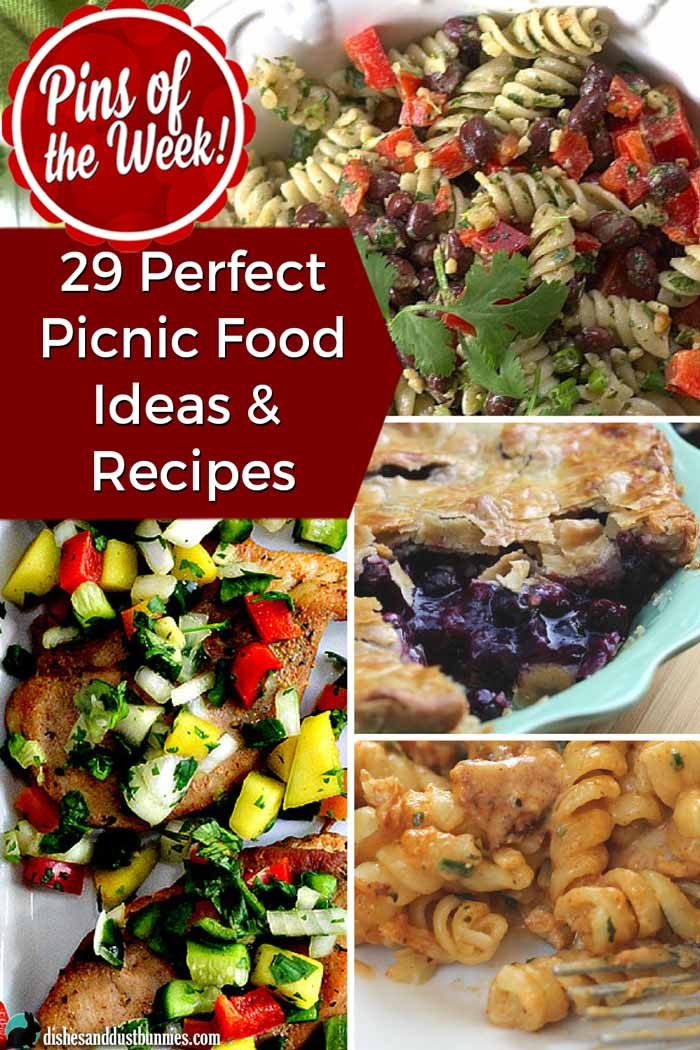 29 Perfect Picnic Food Ideas & Recipes - Pins of the Week! from dishesanddustbunnies.com