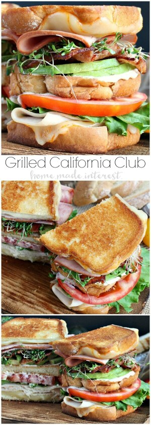 Grilled California Club Sandwich from Home Made Interest