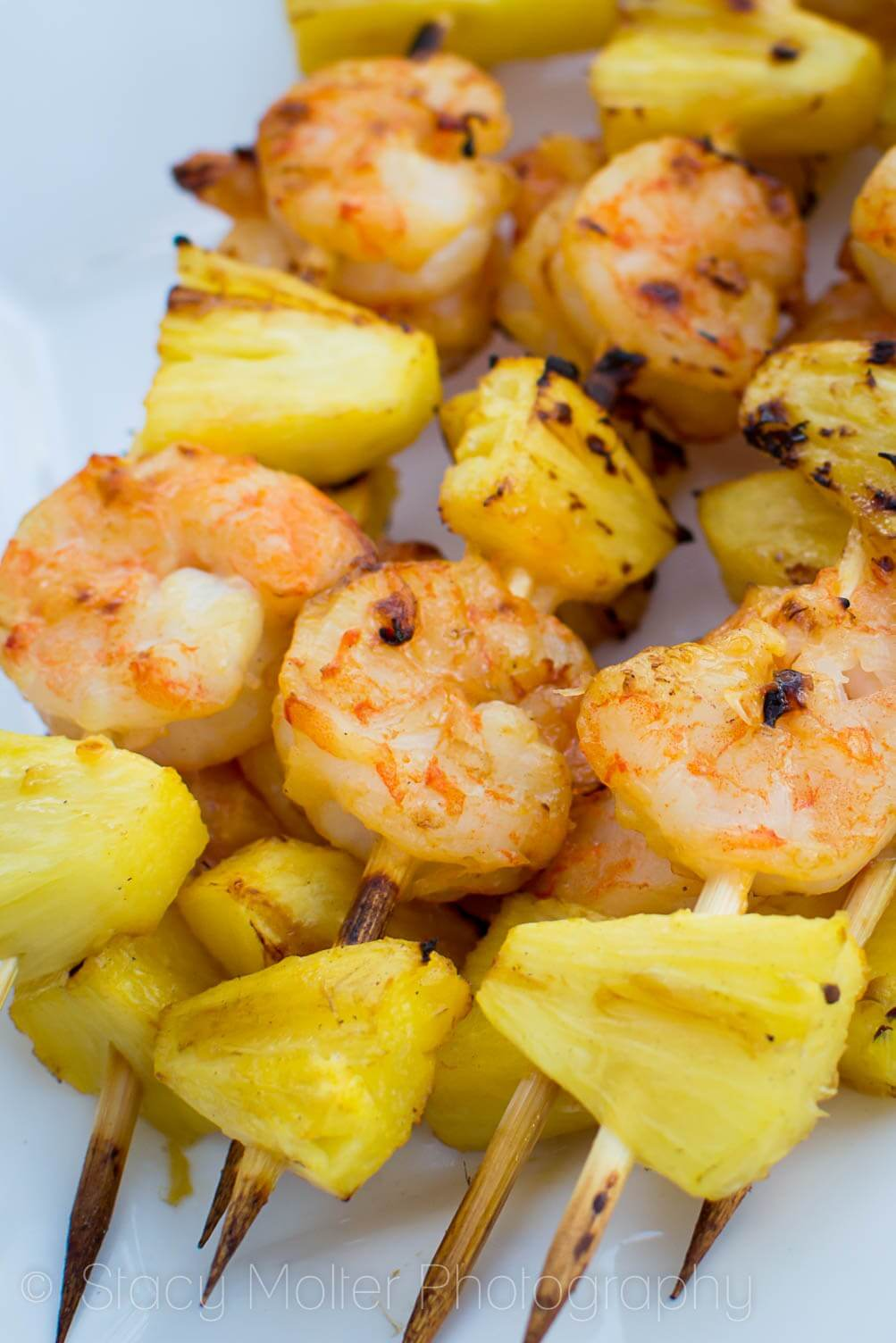 Grilled Sweet Chili and Coconut Pineapple Shrimp Skewers from Fancy Shanty