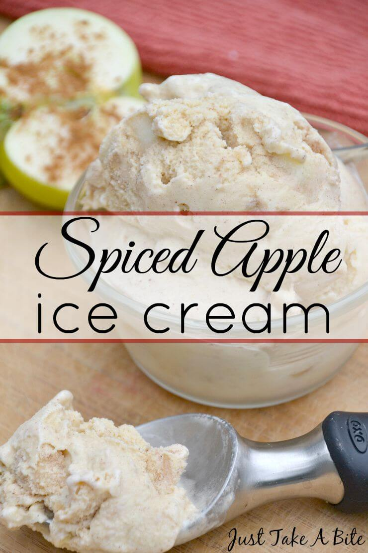 Spiced Apple Ice Cream from Just Take a Bite