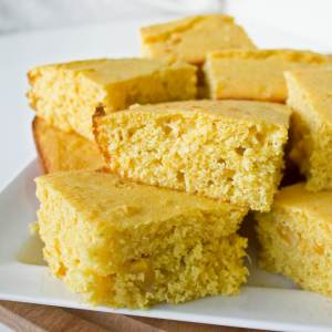 Country Cornbread Recipe from dishesanddustbunnies.com