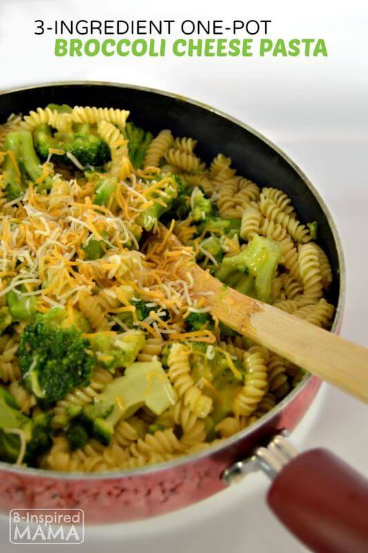 A Simple Pasta Recipe Perfect for School Nights! from B-Inspired Mama