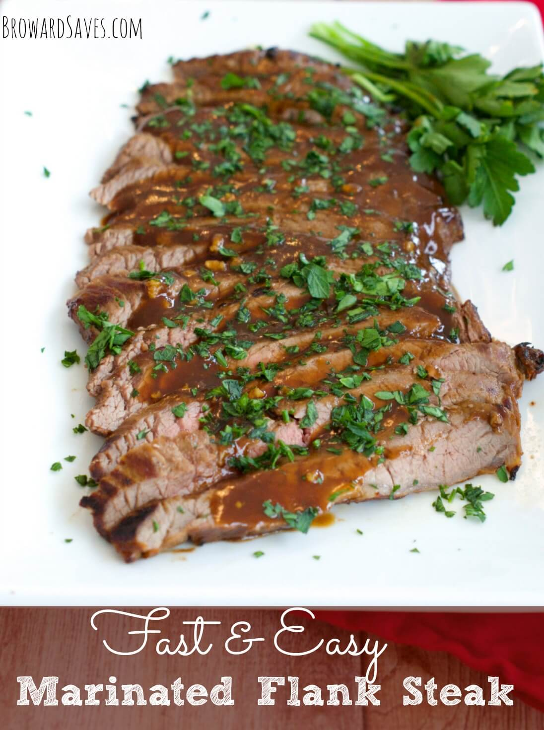 Marinated Flank Steak Dinner Recipe from Living Sweet Moments