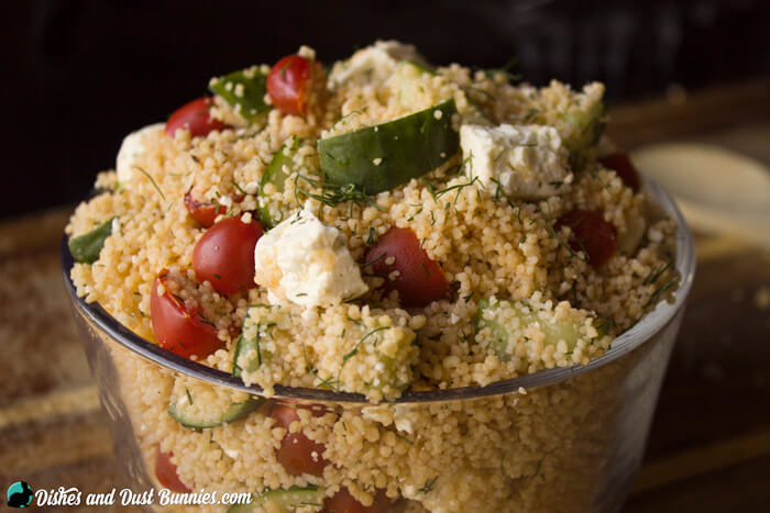 Couscous Salad from dishesanddustbunnies.com