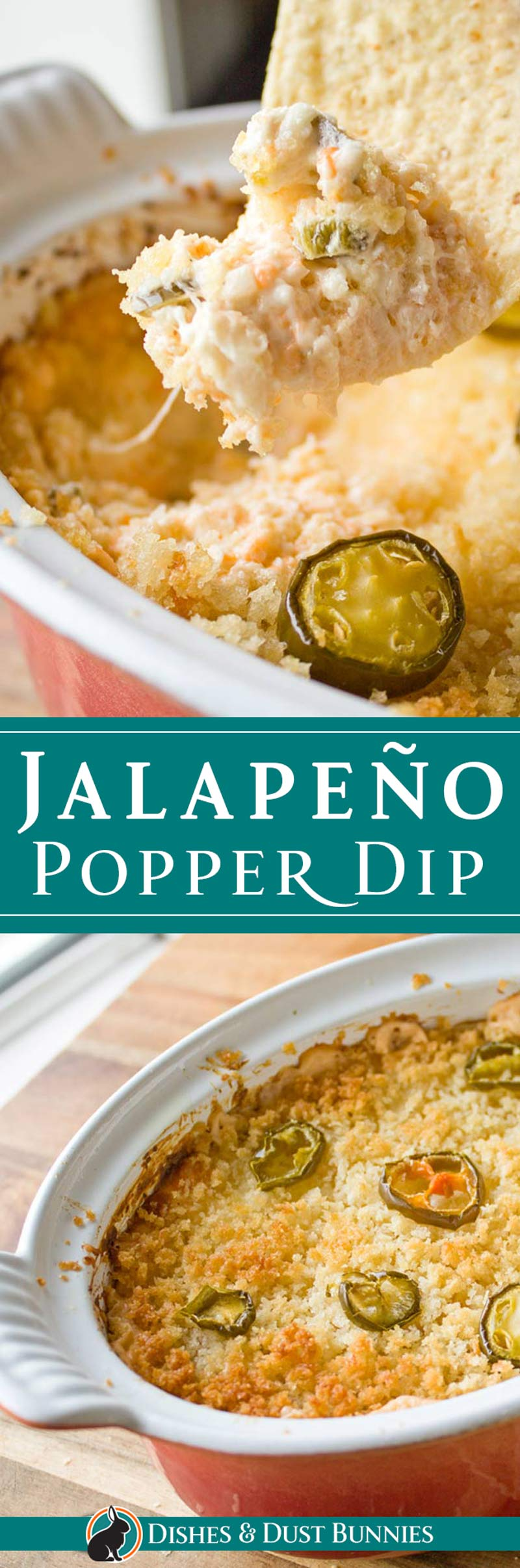 Jalapeno Popper Dip from dishesanddustbunnies.com