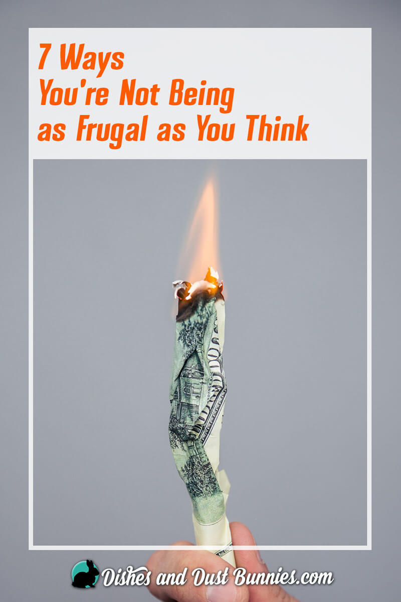 7 Ways You're Not Being as Frugal as You Think - from dishesanddustbunnies.com