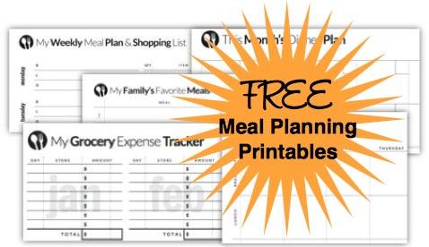 Free Menu Planning Templates from Savings Lifestyle