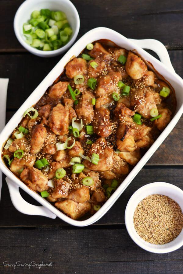 Better Than Takeout Baked Honey Sesame Chinese Chicken from Savvy Saving Couple