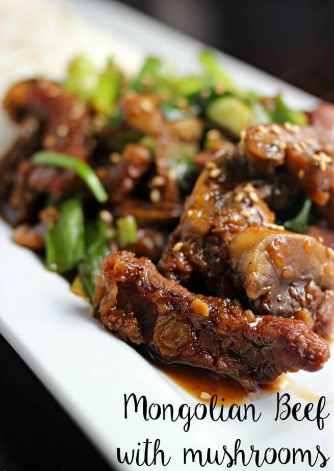 Easy Mongolian Beef with Mushrooms from Sincerely, Jaime