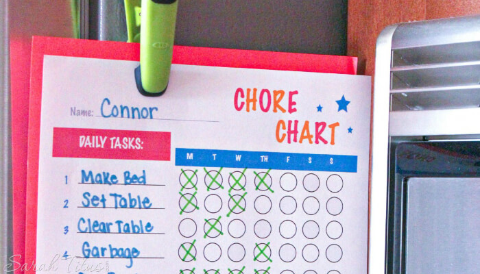 Creating a Chore Chart That's Right For You from Sarah Titus
