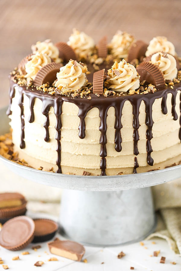 Peanut Butter Chocolate Layer Cake from Life, Love and Sugar