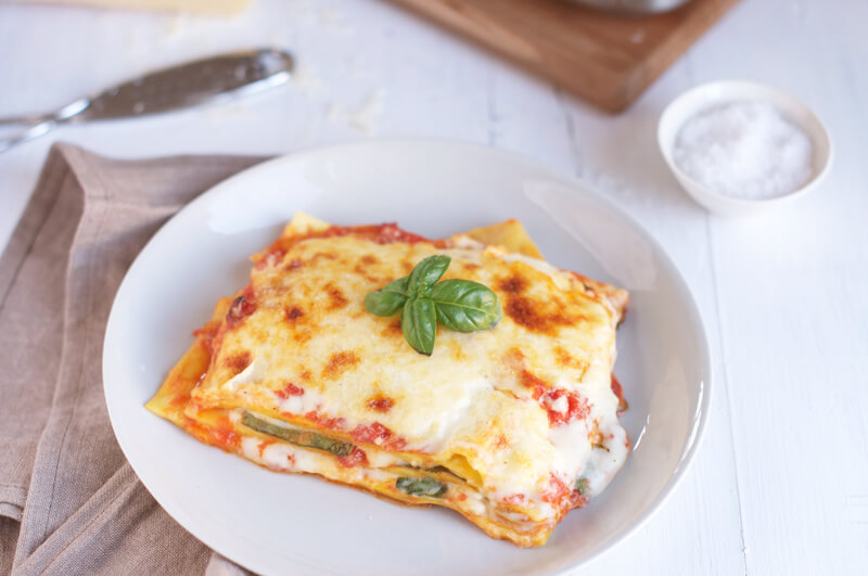 Spinach & Tomato Lasagne from Eat Little Bird