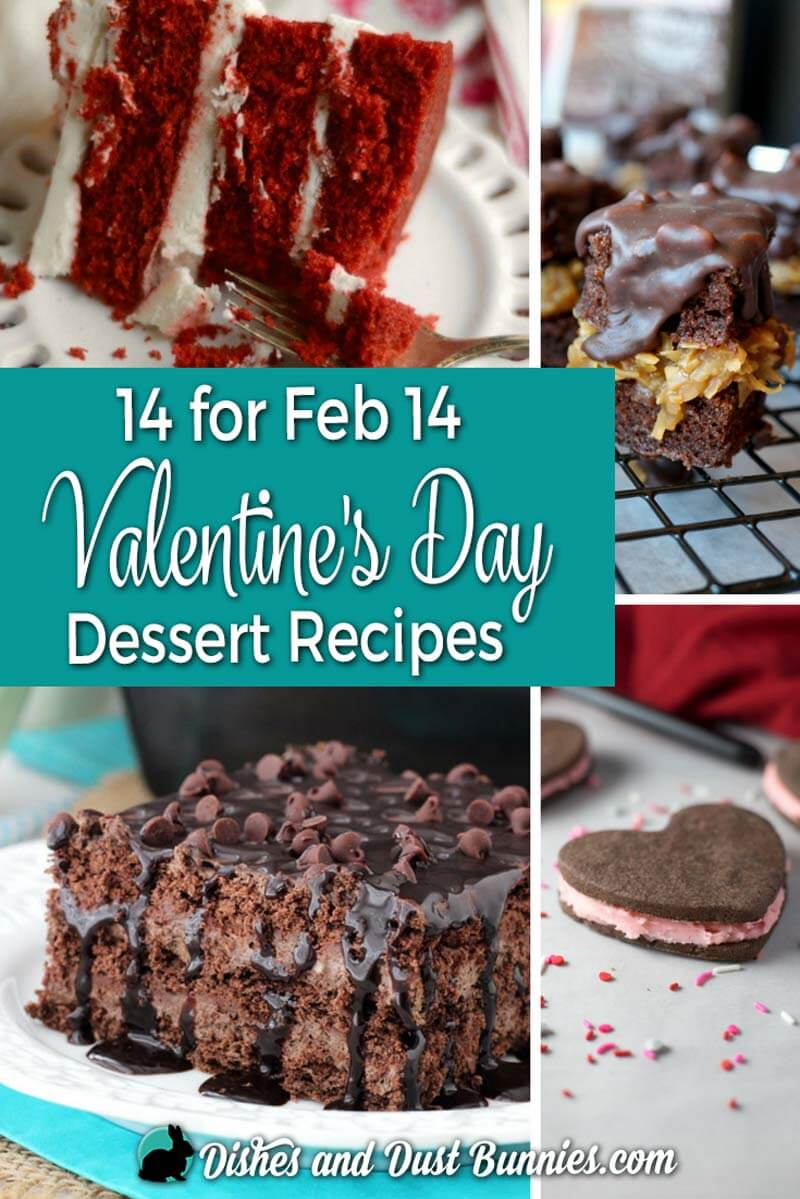 14 for Feb 14 - Valentine's Day Dessert Recipes from dishesanddustbunnies.com