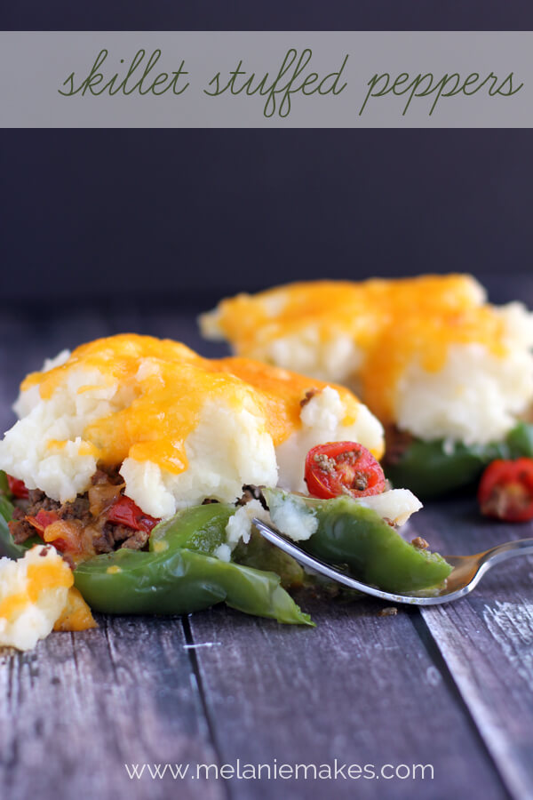 Skillet Stuffed Peppers from Melanie Makes