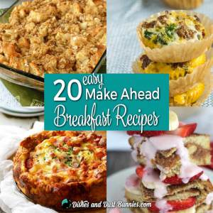20 Easy Make Ahead Breakfast Recipes - from dishesanddustbunnies.com