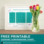 Cooking Conversions Chart – Free Printable!