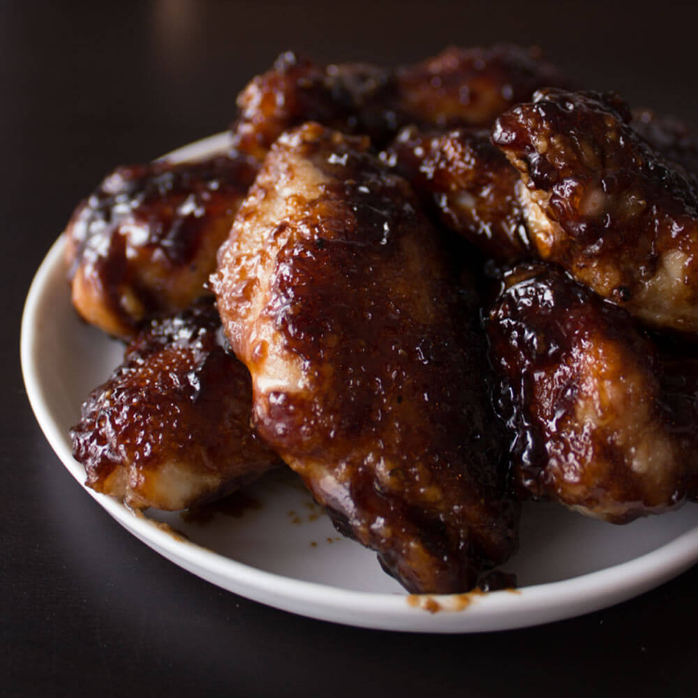 Baked Honey Garlic Chicken Wings from Dishes & Dust Bunnies