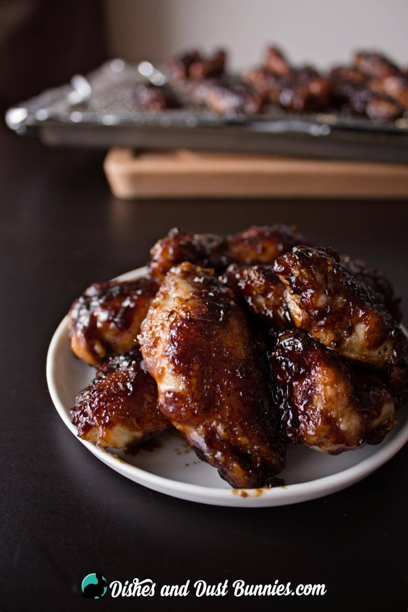 Baked Honey Garlic Chicken Wings from dishesanddustbunnies.com
