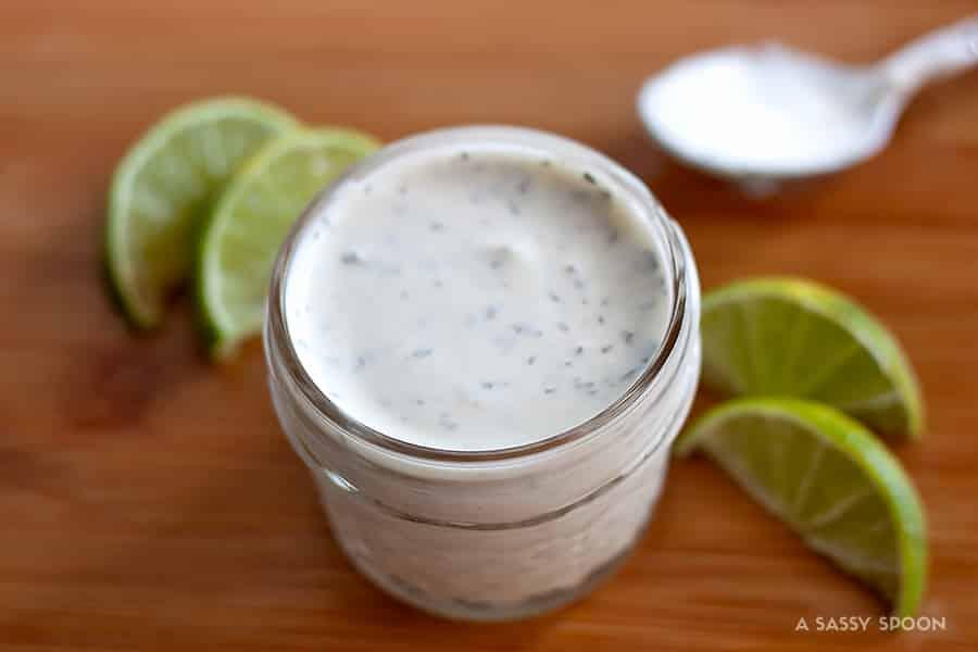 Cilantro Garlic Sauce {Pollo Tropical Copycat} from A Sassy Spoon