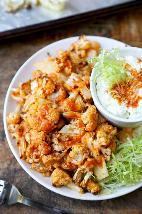 Sriracha Buffalo Sauce Recipe (with grilled cauliflower) from Pickled Plum