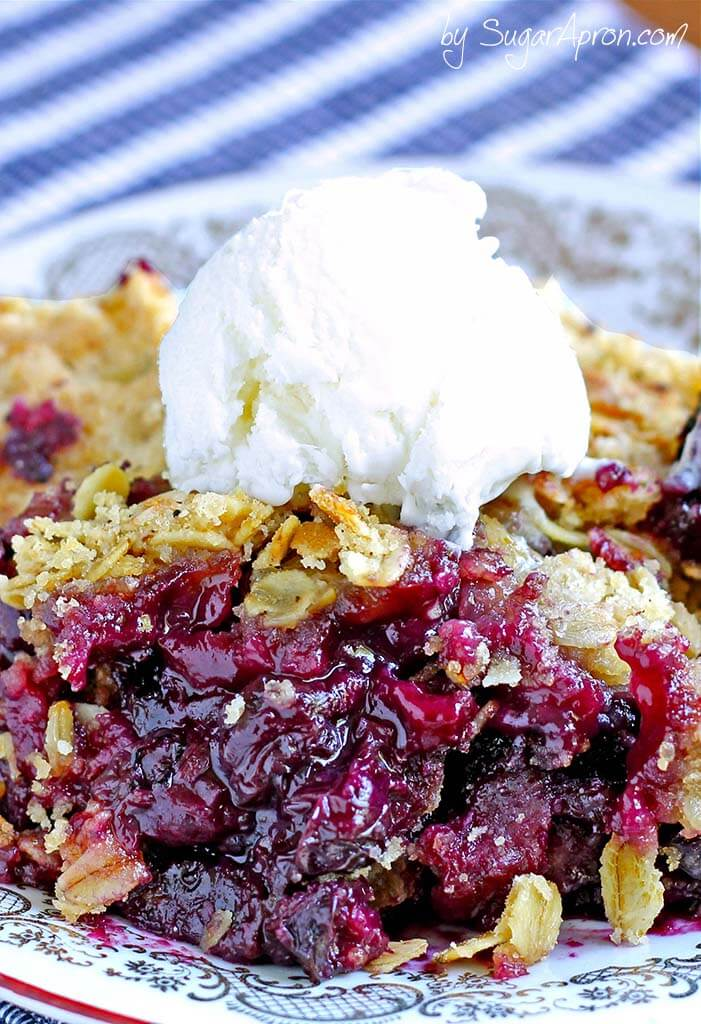Easy Blueberry Crisp from Sugar Apron