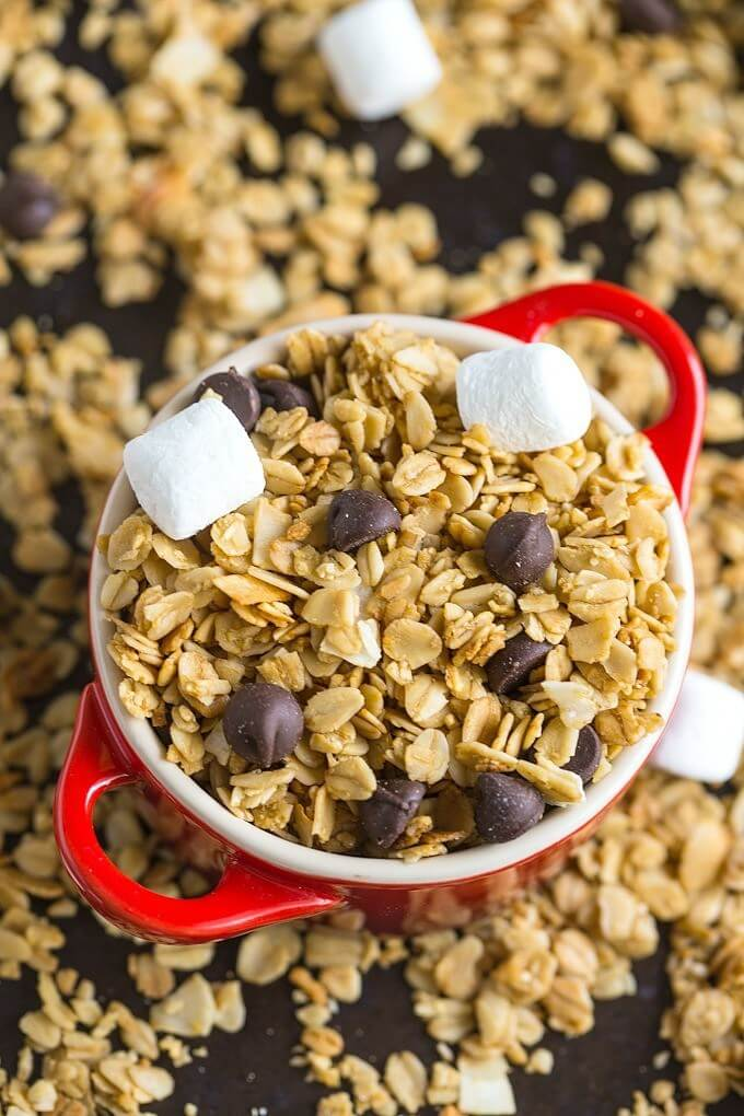 Campfire S'mores Granola from The Big Man's World