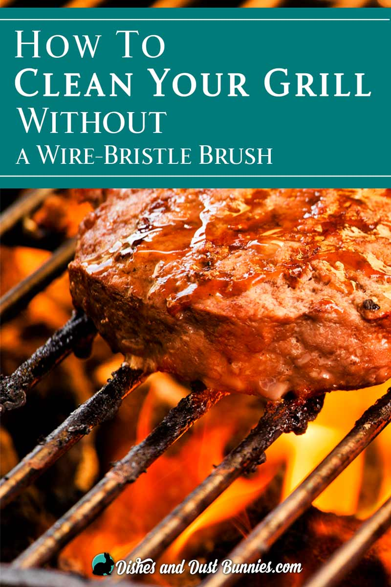 How to Clean Your Grill Without a Wire-Bristle Brush from dishesanddustbunnies.com