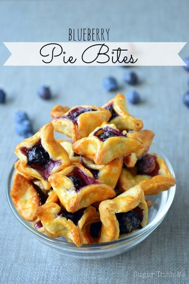 Blueberry Pie Bites from Sugar Dish