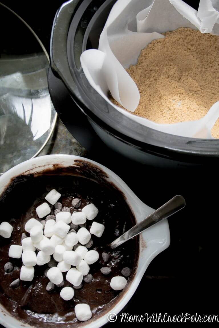 Crockpot S'mores Cake from Moms with Crockpots