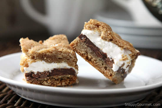 Easy S'mores Bars Cookie Recipe from Snappy Gourmet