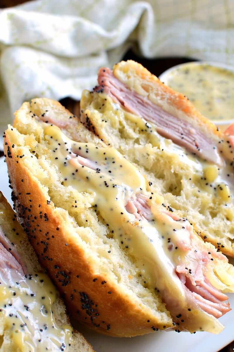 Honey Mustard Ham & Cheese Sandwich from Lemon Tree Dwelling