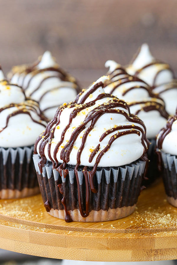 S'mores Cupcakes from Life, Love and Sugar