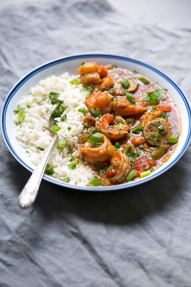 New Orleans Gumbo with Shrimp and Sausage from Little Spice Jar