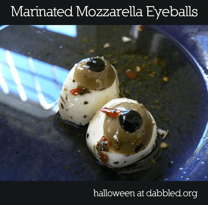 Dot's Mozzarella Eyeballs from Dabbled