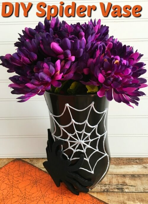 DIY Spider Web Vase from The Frugal Navy Wife