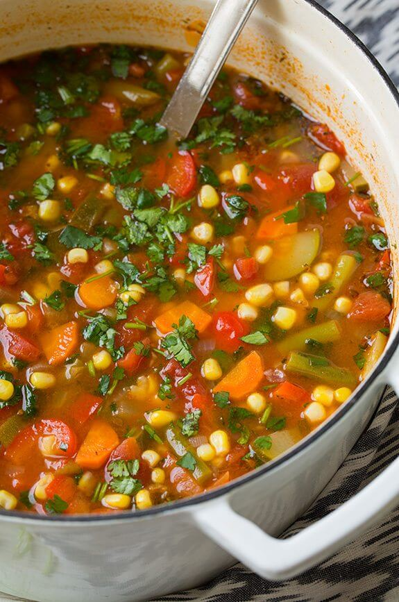 Mexican Vegetable Soup from Cooking Classy