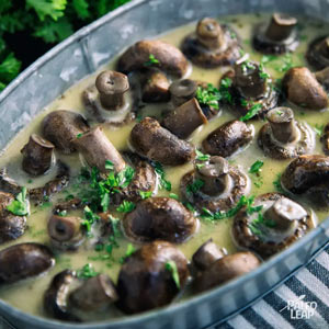 Slow Cooker Herb Mushrooms from Paleo Leap