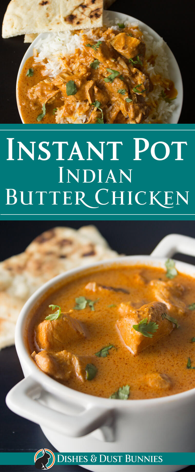 Instant Pot Indian Butter Chicken from dishesandustbunnies.com
