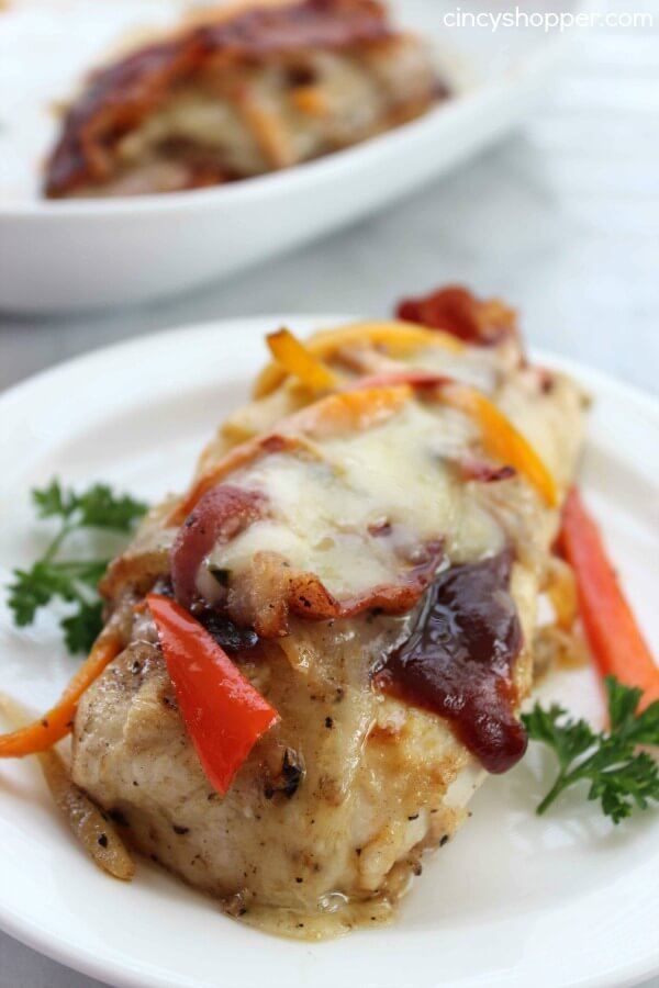 Pepper Jack Chicken with Bacon