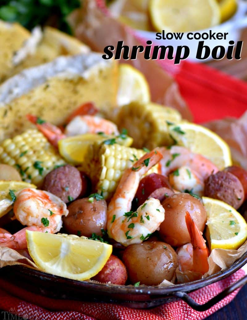 Slow Cooker Shrimp Boil from Mom on Timeout